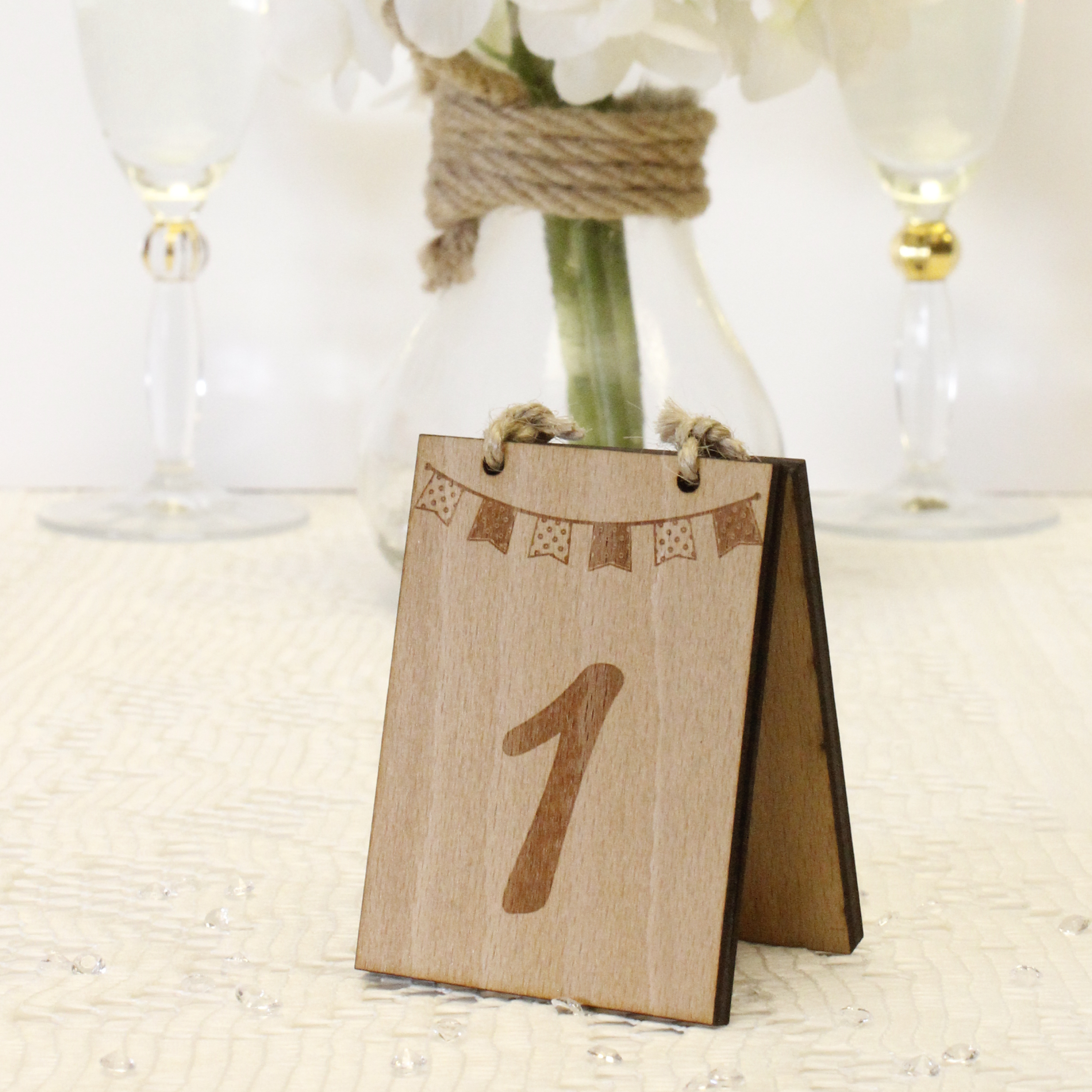 Wedding Table Numbers Wood Little Wonder Gifts